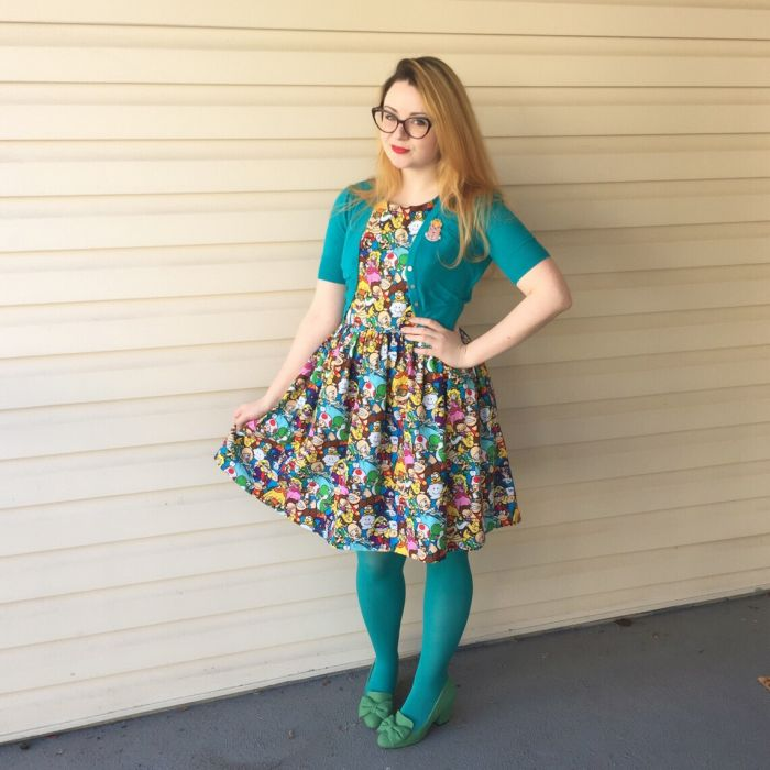 Ariann - Video Games Dress - We Love Colors Tights (4)